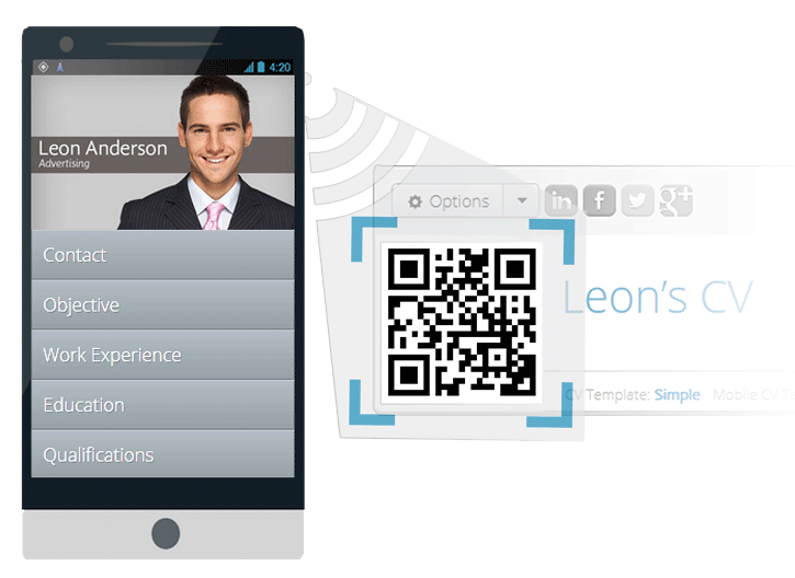 Online CV Builder with Free Mobile Resume and QR Code Resume Maker
