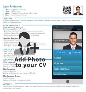 Add Photo to your Responsive CV
