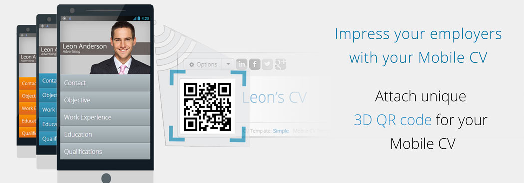 Impress your employers with your Unique 3D QR code of your mobile CV