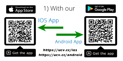 Install from app store & play store QR code