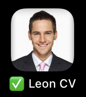 CV icon captured on iPhone