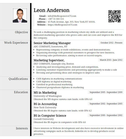 create a similar resume now