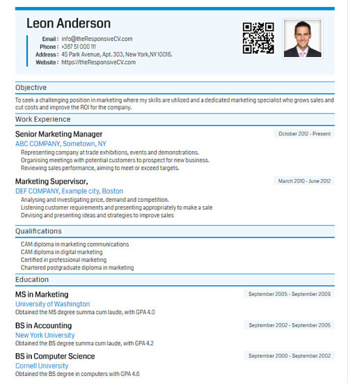 Cutive Resume Template