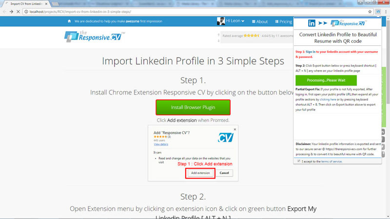 linkedin resume builder import your linkedin profile in 3 easy steps