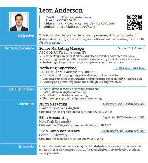 revalia resume template