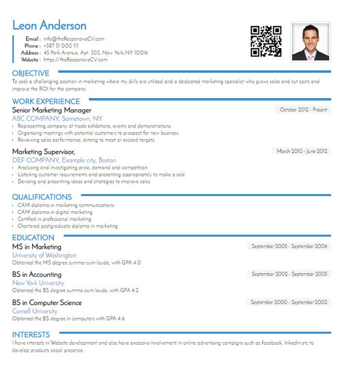 Righteous Resume Template