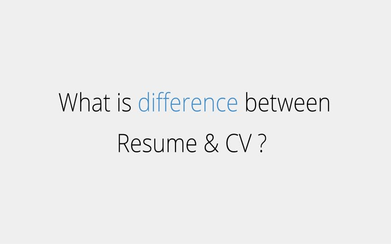 difference between cv and resume responsive cv