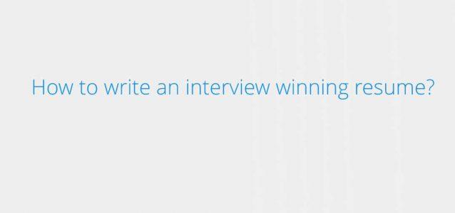 interview winning resume