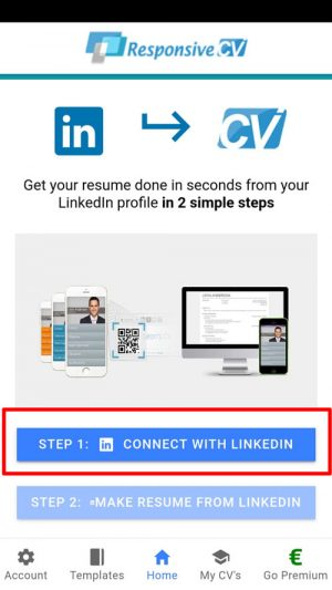 Connect with LinkedIn using your LinkedIn username/password.