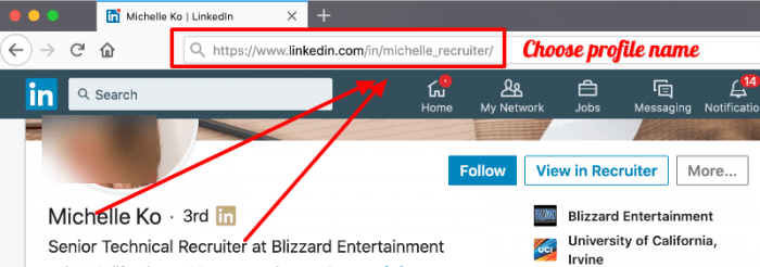 Choose good profile name - Linkedin profile optimization