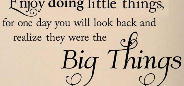 Enjoy doing little things for personal branding